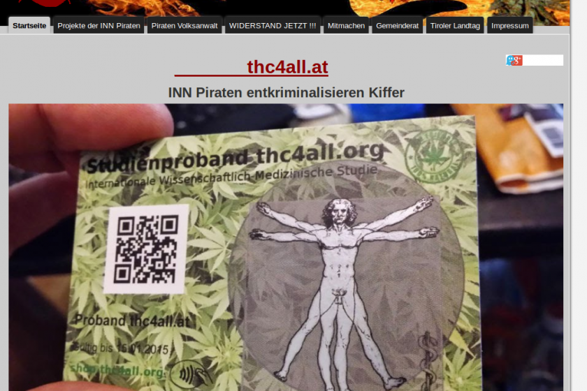 Screenshot Website der Inn-Piraten